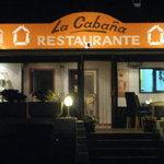 Front of Restaurant La Cabana at night