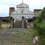 Rina and I at the foot of San Miniato
