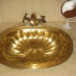 Brass wash hand basin in Baraka