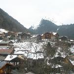 View from our balcony over Morzine