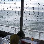 December sea view from Restaurant terrace on Christmas Day