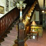 Main staircase at Firmstone Manor