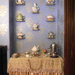 The sideboard with china collection