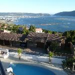 View from room terrace to Knysna bay