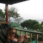 Hammock on the veranda and the amazing view