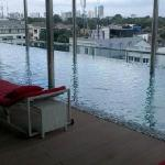 Infinity pool with a panaromic view of Jakarta!