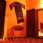 Entrance hall at Riad Dar Rita, Hotel Ouarzazate Morocco