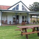 Wine tasting room and BBQ area