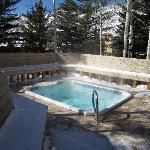 Cedars building hot tub