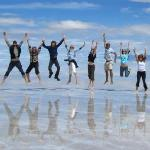 The Tupiza Tours Team in the Salar