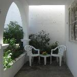 Roomy porches outside each villa for enjoying Cozumel's tropical weather!