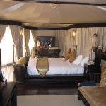 One half of the villa