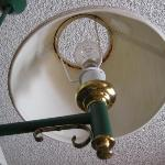 Dirty light fitting with no globe