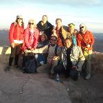 Some of the gang on top of Mt. Sinai