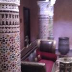 The courtyard of the riad