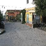 Main street leading to NiRia B&B. On right Ristorante Gli Ulivi
