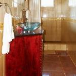 Dusche im Bungalow