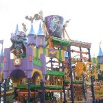 The Count's Splash Castle, a multi-level interactive water-play attraction