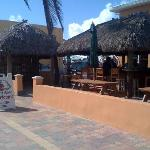 building with the Tiki bar & office