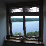 View to Loch Ness right outside out bedroom window
