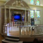 Marble Bimah in the second synagogue in Miami Beach, at the Jewish Museum in Miami, Florida