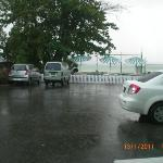 sadview from our room in a heavy downpour. as we didnt have a terrace or balcony, we had to go i