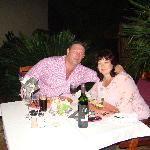 Barbara & Jannie at Ipe Tombi, Dinner at the swimmingpool