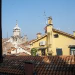 Turning to the right to look out the window over Venice