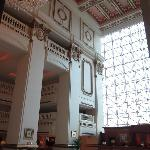 Imposing 5-story lobby