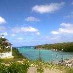 vista dal ristorante della spiaggia