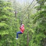 Ziplining in Juneau Alaska