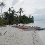 meal break at San Blas Sea Kayak Expedition