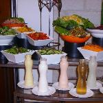 Salads with multiple choices of dressing