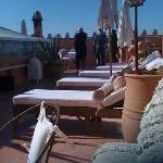 loungers on the roof terrace