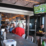 There are plenty of TVs to watch sporting events