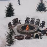 View of the fire pit outside of our room.