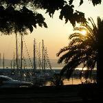 Coucher de soleil sur le nouveau port
