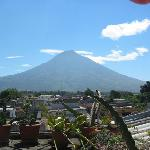 Agua Volcano from roof tpo