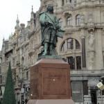Die Statue flämischen Malers David Teniers