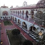 Central courtyard at Urdinola Hotel in Saltillo, Mexico.