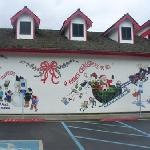 part of the outside, Santa Claus house