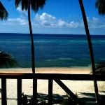 view from our beachfront room