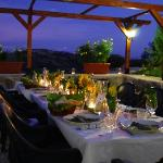 The East Terrace - perfect alresco dining near Assisi