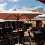 Outdoor seating with view of Table Mountain