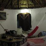 Inside a bungalow