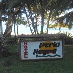 Hotel Perla Negra sign