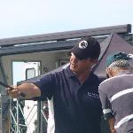 Eric Larrache- le pro de golf sur le practice de la corniche(Urrugne)
