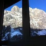 la vista dalla sala della colazione