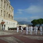 The changing of the guard takes place at 12 noon.