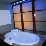 tub with changable lighting